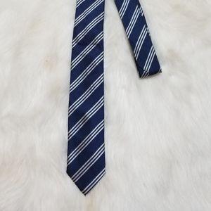 Gap Navy Blue Silver Tie Silk New